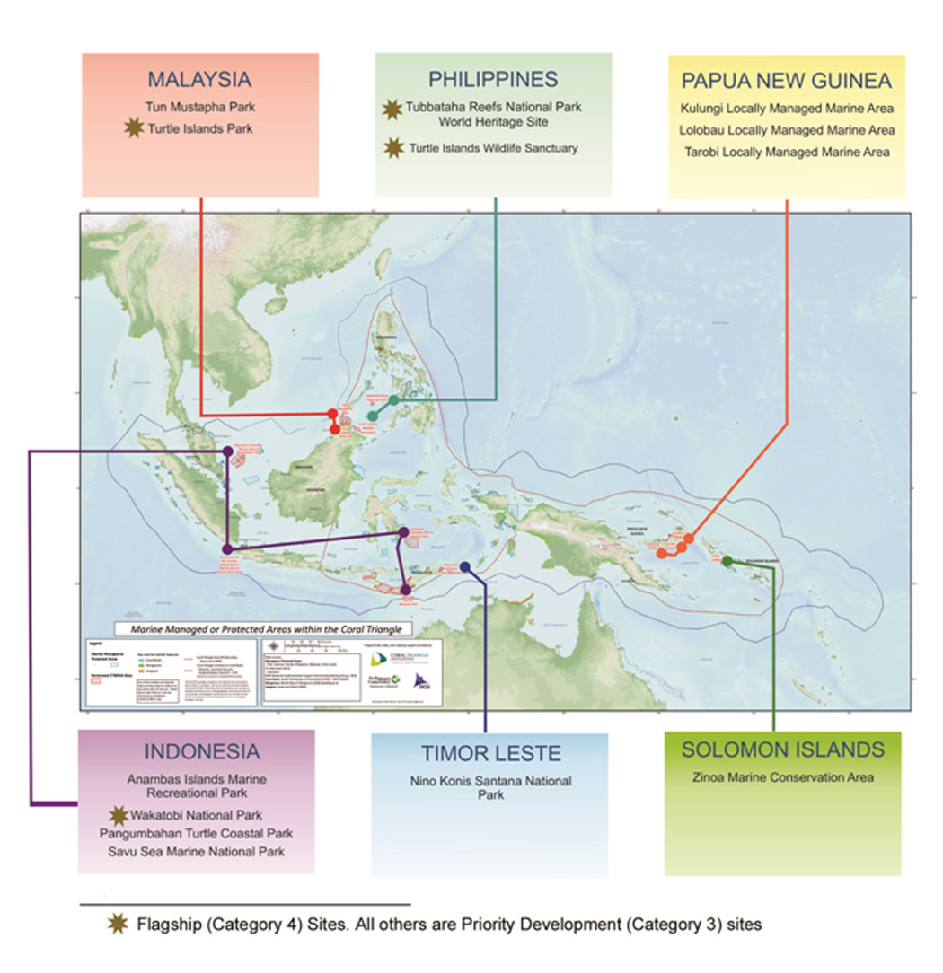 Four MPAs Named Flagship Sites Of Coral Triangle Marine