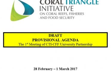 DRAFT PROVISIONAL AGENDA: The 1st CTI-CFF...