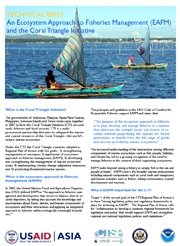 Technical Brief: An Ecosystem Approach to Fisheries Management (EAFM) and the Coral Triangle Initiative, September 2011