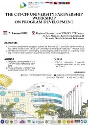 CTI-CFF University Partnership Workshop on Programs Development, Manado