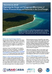 Technical Brief: Improving the Design and Management Effectiveness of Marine Protected Areas and Networks in the Coral Triangle, September 2011